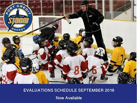 House League Evaluations Schedule for September